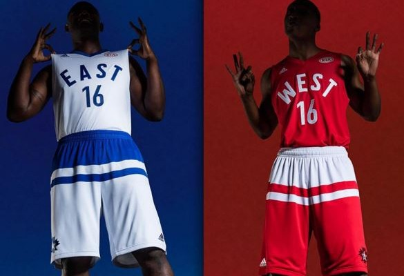 Adidas revela uniformes para o All-Star Game da NBA de 2016 ... 0f22d39bc3af4