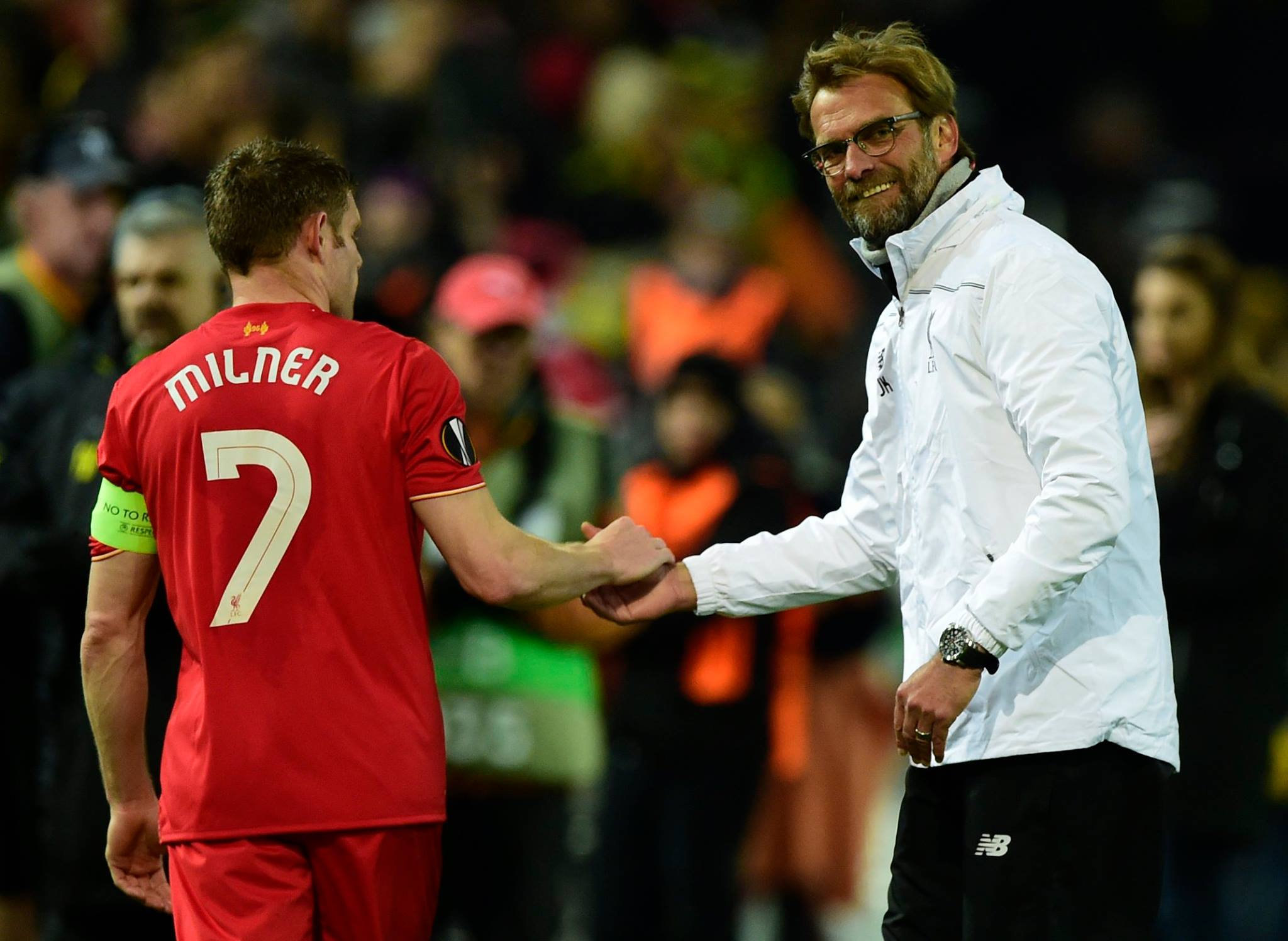 James Milner revelou o que Klopp disse ao intervalo do jogo contra o Dortmund